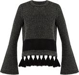 Proenza Schouler Tassel-hem tweed sweater