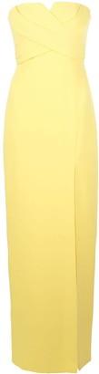 Aidan Mattox Cross-Bust Strapless Gown