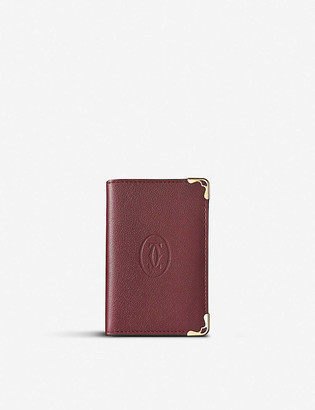 Cartier Must de extra-small bi-fold leather wallet