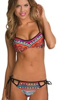 LikeYOU Ethnic Printed Strappy Bikini Swimsuit Size L