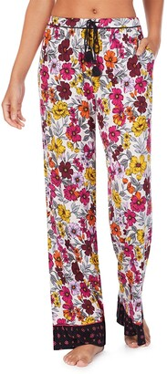 Kensie Floral Print Wide Leg Pajama Pants