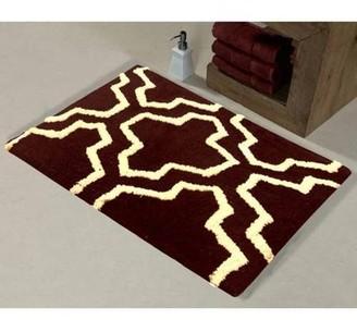 Saffron Fabs Bath Rug 2-Piece Set, Geomatric Quatrefoil Pattern, Assorted Colors and Sizes