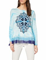 Desigual Womens Hawai Woman Flat Knitted Thin Gauge Pullover Pullover Sweater