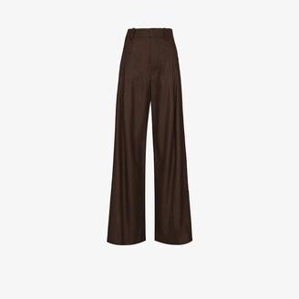 Chloé Wide Leg Wool Trousers