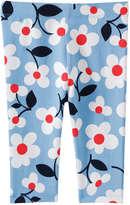 Joe Fresh Baby Girls' Crop Pant, Blue (Size 3-6)