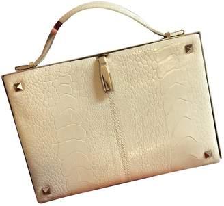 Valentino Beige Ostrich Clutch bags