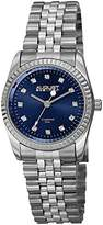 August Steiner Women's AS8170BU Silver Quartz Watch with Blue Dial and Silver Bracelet