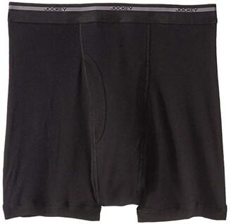 Jockey Classic Staynew Bonus Pack Full-Rise Boxer Brief (3-Pack + 1 Free) (Black) Men's Underwear