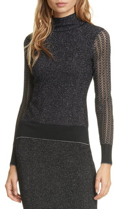 Rag & Bone Rower Metallic Merino Sweater