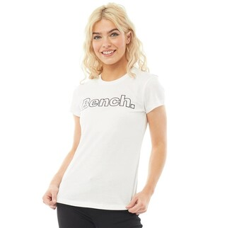 Bench Womens Hallie Branded T-Shirts White