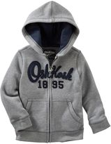 Osh Kosh Toddler Boy Fleece Logo Applique Zip-Up Hoodie