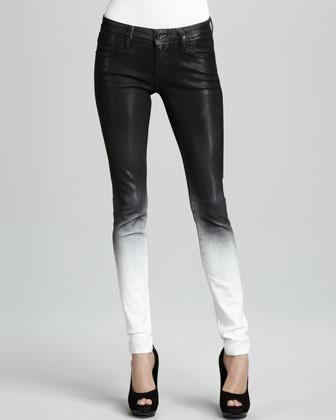Elon Sinclair Ghostwind Spray-Coat Skinny Jeans