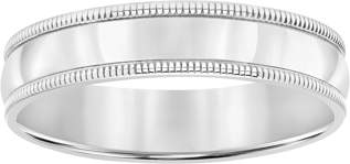 Brilliance+ Brilliance Fine Jewelry Sterling Silver Milgrain Edge Wedding Band, 5mm