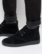 Bellfield Fleece Lined Chukka Boot In Black Suede