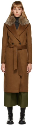 Mackage Tan Fur Sienna Coat