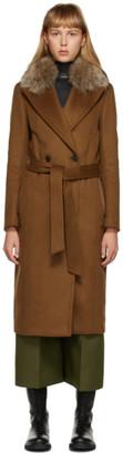 Mackage Tan Fur Sienna Coat