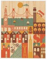 Petit Collage Large Unframed - San Francisco