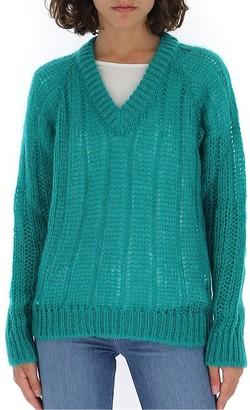 Prada Crochet V-Neck Sweater