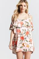 Forever 21 FOREVER 21+ Floral Open-Shoulder Dress