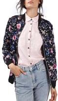 Topshop Women's Floral Print Bomber Jacket