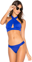 Norma Kamali Cross Halter Bikini Top
