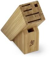 Shun 6-Slot Slim Bamboo Storage Block