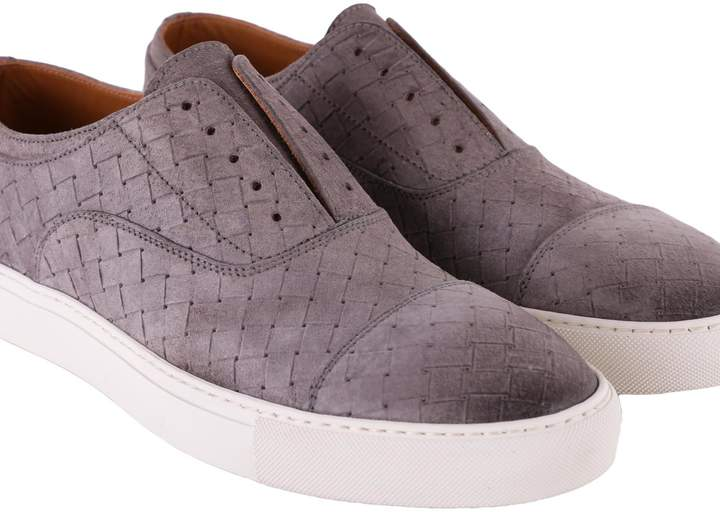 Doucal's Woven Leather Sneakers