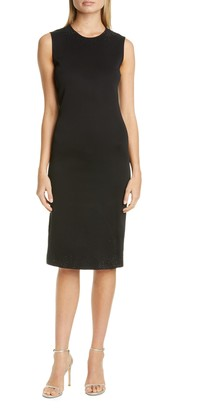 St. John Embellished Liquid Milano Knit Dress