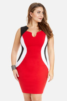 Fashion to Figure Racer Color-Block Bodycon Dress