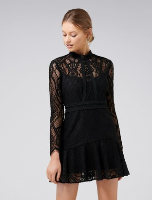 Ever New Lia Lace-Sleeved Mini Dress