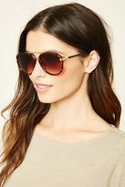 Forever 21 FOREVER 21+ Tortoiseshell Aviator Sunglasses
