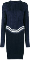 Esteban Cortazar Poet Cable Knit Jumper with Asymmetric Hem