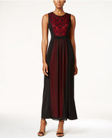 Connected Petite Lace Chiffon A-Line Gown