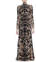 Alexander McQueen Velvet Damask Lace Gown