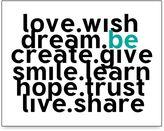 Bed Bath & Beyond Love Wish Wall Art in White