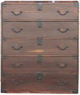 One Kings Lane Vintage Antique Lacquer Japanese Tansu Dresser - de-cor