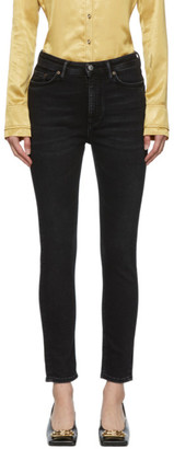 Acne Studios Black Bla Konst Used Peg Jeans