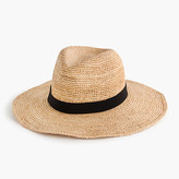 J.Crew Wide-brim packable straw hat