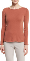 Peserico Long-Sleeve Rolled-Neck Sweater, Blush