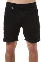 Neuw Ray Tapered Mens Denim Short Black