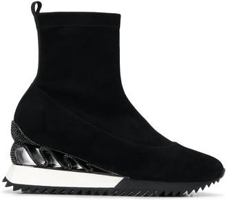 Le Silla Embellished Sock Boots