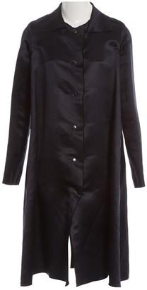 Lanvin Navy Silk Coat for Women
