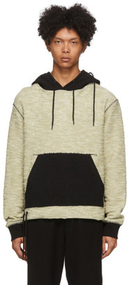 Craig Green Black and Green Reverse Laced Hoodie