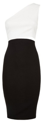 Dorothy Perkins Womens Vesper Black And White Contrast Bodycon Dress, Black