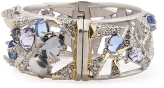 Alexis Bittar Silver-tone, Crystal And Stone Cuff