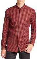 The Kooples Men's Buffalo Checked Shirt - Red-black, Size xs