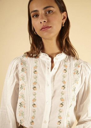 FRNCH Cecilia White Shirt - S .