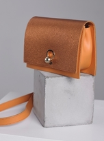 Danielle Foster CHARLIE BOX BAG IN ORANGE & METALLIC