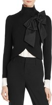 Alice + Olivia Addison Bow-Collar Cropped Jacket