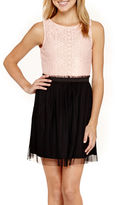 JCPenney Swat Speechless Sleeveless Ruffle-Waist Dress
